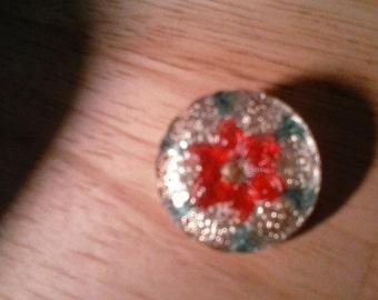 Vintage, antique gold VASELINE series rare button 1930