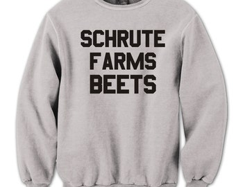 Shrute Farm Beets Funny The Office Dwight Humor Crewneck Sweatshirt DT0652