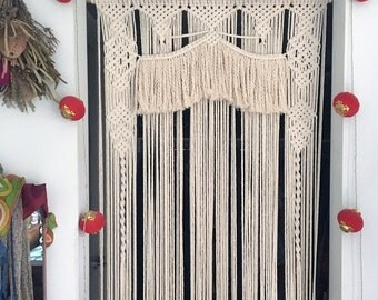 Macrame Door Curtain 'Big Top'