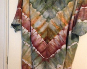 Ice Dyed Camo / Earth Tone Tie Dyed Shirt