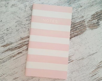Notebook pink stripes