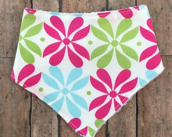 Floral terry cloth bibdana baby bib baby shower gift