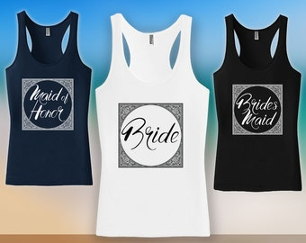 Bachelorette Tank Top - Bachelorette Party Shirts,bridesmaid matching t-shirts,wedding day getting ready tank tops, Bridesmaid tshirt CT-512