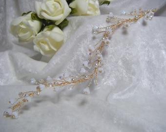 Bridal Hair Vine gorgeous babys breath design