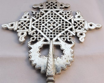 Ethiopian Nickle Hand crafted traditional hand cross
