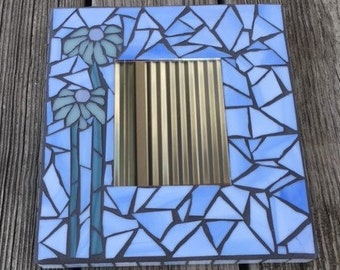 Stained Glass Mosaic Mirror/Blue/ BRAND NEW LISTING!!
