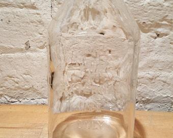 Vintage 1000 cc Glass Medical External Use Only Bottle