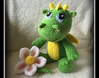 Drago the crocheted baby dragon