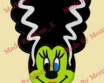 Mrs. Mouse Frankenstein Bride Applique