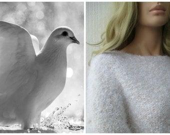 Sweater white fluffy