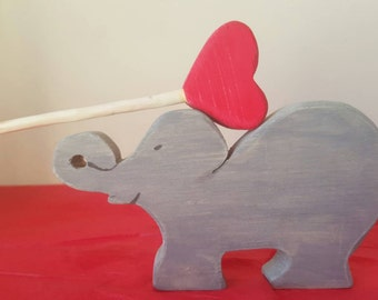 Valentine's Day gift, Valentines Elephant, Elephant and heart,