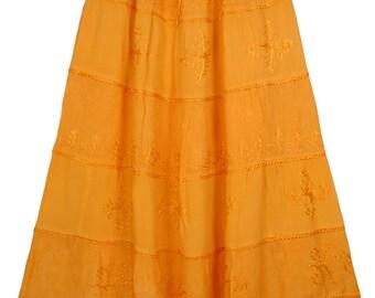 Orange Queen Crepe Skirt
