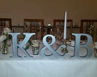 Set of initials for bridal table wedding decoration mr & mrs