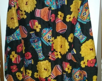 Laura & Jayne Silk Collection 1x vintage vase blouse!!