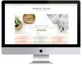 Feminine Wordpress Theme Shirley / Ecommerce and Portfolio / Genesis Child Theme / Woocomerce Theme / Photography Theme / Mint Peach