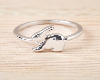 Bunny Ring, Sterling Silver, Animal ring