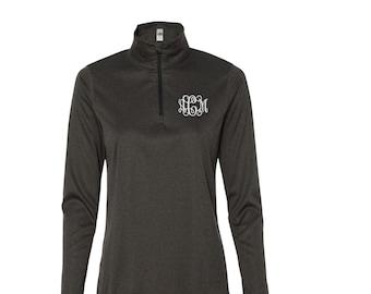 Monogrammed Womens Quarter Zip Lightweight Pullover. Quarter Zip Pullover. Lightweight Pullover. W3006.