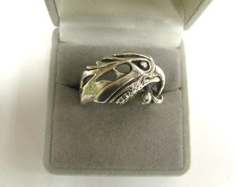 Eagle ring Sterling Silver handmade no stone U.S.A.