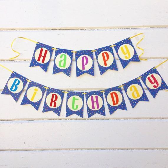 colorful birthday banner happy birthday banner