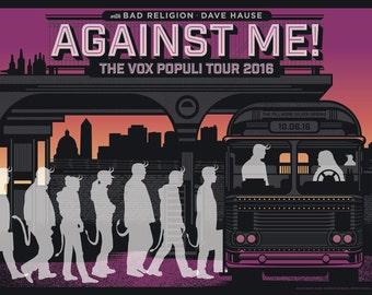 Against Me! Gig Poster DC