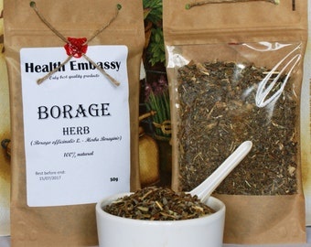 Borage Herb (Borago officinalis L. - Herba Boraginis) Health Embassy 100% Natural