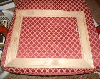 Antique Large Rustic Wood Frame