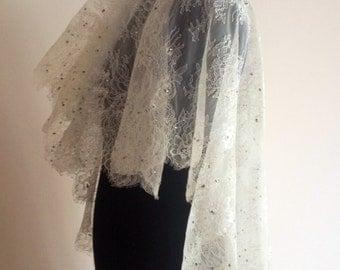 Chantilly lace veil, Mantilla veil , All Over Lace Veil, Lace Mantilla Veil, Lace Wedding Veil, All Lace Veil, Lace Wedding Veil,