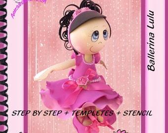 PDF/Ballerina step by step / craft foam doll/ fofucha