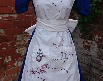 Handmade American McGee's Alice Madness Returns Cosplay Fancy Dress Costume UK 10
