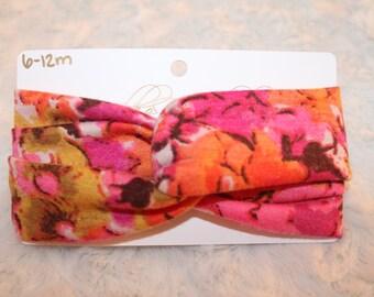 6-12M Pink Floral Turban