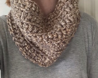 Infinity Scarf, Homemade, Crochet, Cozy Dreams Cowl Neck Infinity Scarf