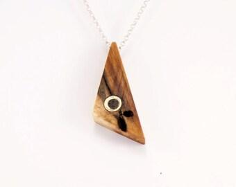 Poplar Pendant Silver/Gold Eye