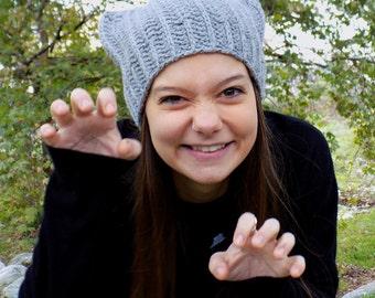 Cat beanie, cat hat, kitty hat, cat ears hat, crochet cat ear hat, crochet cat hat, animal hat, cat ear beanie, hat with ears, costume women