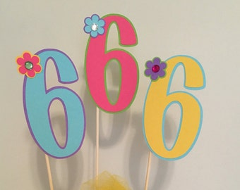 3 pcs number centerpiece, Birthday Party Decorations, Birthday Centerpiece, Birthday Decoration, Party Decor, Number Centerpiece