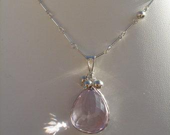 925 Silver chain with wonderful Ametrine! Extravagant!