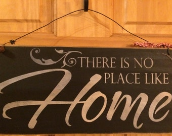 There's No Place Like Home 12x6 Wired Sign