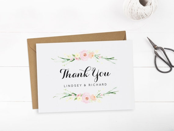 printable wedding thank you card template editable text and. Black Bedroom Furniture Sets. Home Design Ideas
