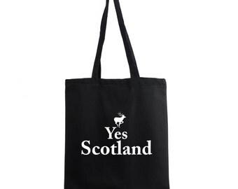 Yes Scotland Cotton Promo Tote Bag Canvas Sogan Shopping Shoulder Shopper Gift
