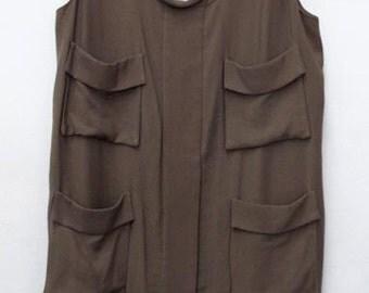Safari Style Dress Olive Green BCBG Dress Size M