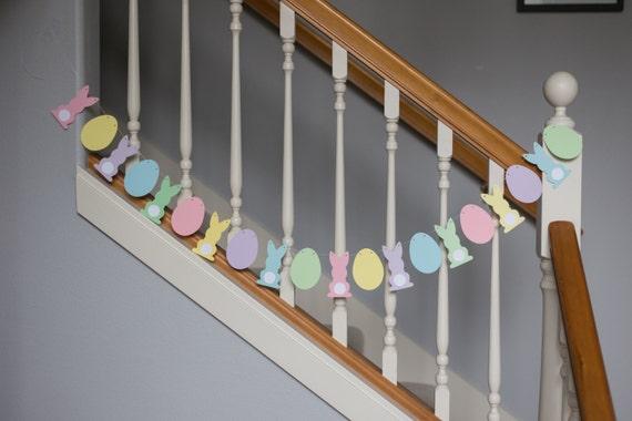 Easter bunny and egg garland/banner, pastels