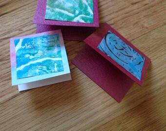 Handmade holiday gift tags