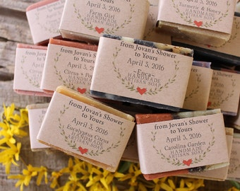 50 Personalized Soap Favors/From My Shower to Yours/Bridal Shower Favors