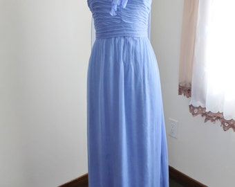 Pale Blue SIlk Gown by Amsale, Size 4 Dress, Formal  Strapless