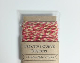 Baker's Twine in Red & Beige - 10 meters