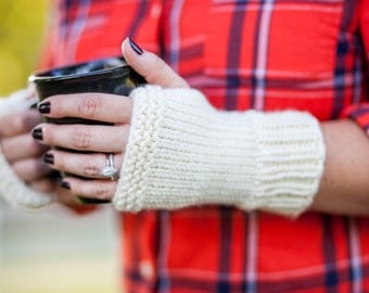 Knit Fingerless Gloves Wrist Warmers