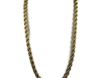 Napier Rope Necklace in Gold Tone