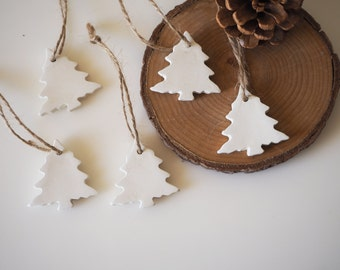 Christmas decorations - Set 5 Christmas gift tags - Christmas ornaments - Minimalist Christmas tree decor - Nordic Christmas decoration