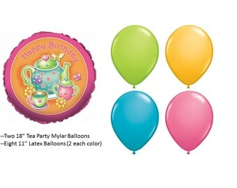 Tea Party Balloon Set