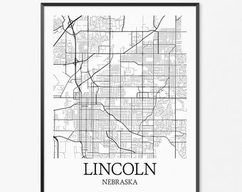 Nebraska map etsy Home decor lincoln ne