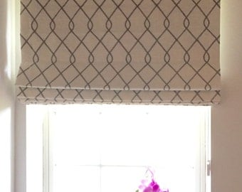 Roman Shades- *Designer-Favorites*, 'Flat' Roman Shades, Cordles- Made to order, With your favorite fabric,